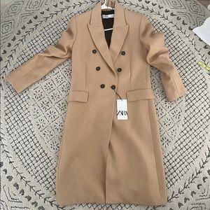 Zara double breast coat bloggers favorite
